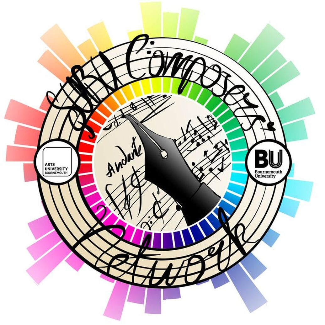 SUBU Composers' Network Logo for a joint Bournemouth University and Arts University Bournemouth Society